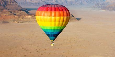 Ballontur over Wadi Rum.