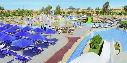 Vandparken på Hotel Jungle Aqua Park i Hurghada, Egypten.