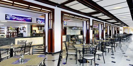 Restaurantområde på Hotel Jungle Aqua Park i Hurghada, Egypten.
