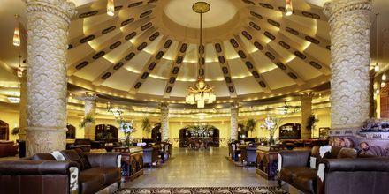 Lobby på Hotel Jungle Aqua Park i Hurghada, Egypten.