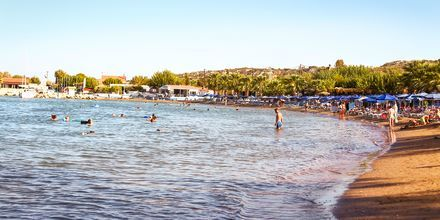 Faliraki-stranden på Rhodos, Grækenland.