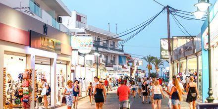 Faliraki på Rhodos, Grækenland.