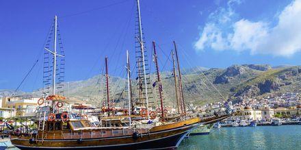Pothia på Kalymnos, Grækenland.