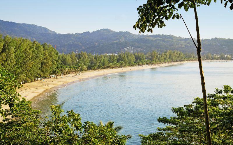 Kamala Beach, Phuket i Thailand.