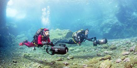 Oplev Kap Verdes liv under havets overflade med scuba diving eller snorkling.