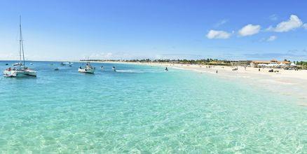 Santa Maria Beach på Sal, Kap Verde.