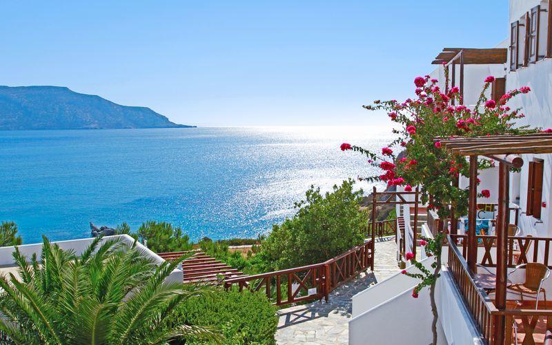 Hotel Aegean Village i Amopi på Karpathos, Grækenland.