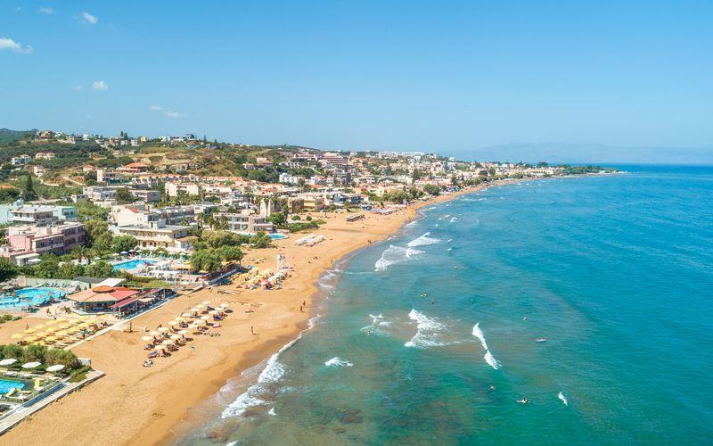 Udsigt over Kato Stalos på Kreta