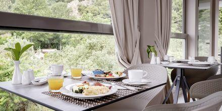 Veranda morgenmadssalon på Hotel KB Ammos på Skiathos, Grækenland.
