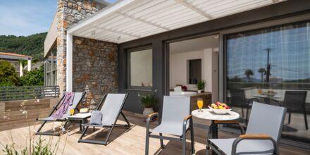 Deluxe-værelse med jacuzzi på Hotel KB Ammos på Skiathos, Grækenland.