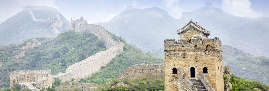 Den Kinesiske Mur i Kina.