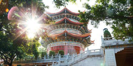 Tempel i Guangzhou, Kina.