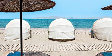 Stranden ved hotel Kipriotis Aqualand på Kos, Grækenland