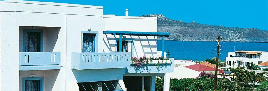 Hotel Kleopatra i Kato Stalos på Kreta.