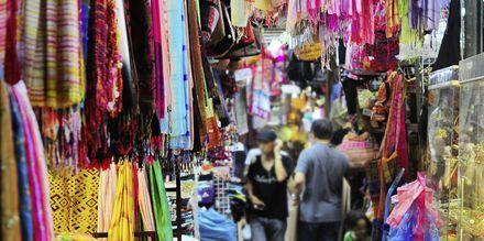 Shopping i Thailand på thailandske markeder.