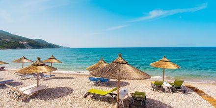Stranden ved Kokkari på Samos, Grækenland.
