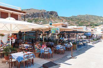 Restaurant i Kolymbari på Kreta, Grækenland.