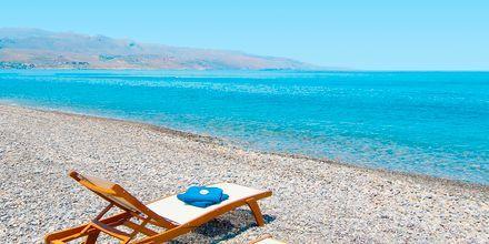 Stranden ved Kolymbari på Kreta, Grækenland.