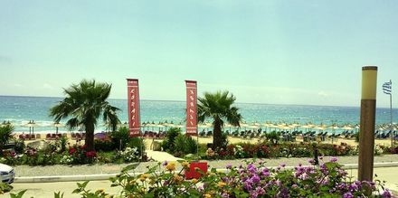 Udsigt fra Hotel Korali House i Vrachos, Grækenland.