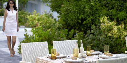 Restauranten på Hotel Kouros Seasight i Pythagorion på Samos, Grækenland.