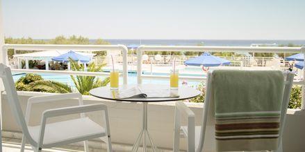 Dobbeltværelse på Hotel Kouros Seasight i Pythagorion på Samos, Grækenland.