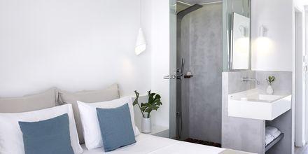 Renoveret dobbeltværelse på Hotel Kouros Seasight i Pythagorion på Samos, Grækenland.