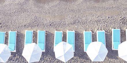 Stranden ved Hotel Kouros Seasight i Pythagorion på Samos, Grækenland.