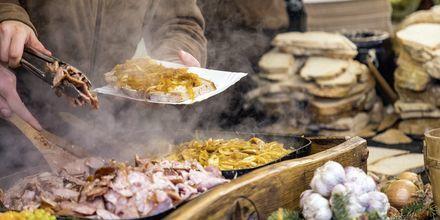 Streetfood i Krakow, Polen.