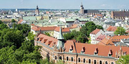 Udsigt over Krakow, Polen.