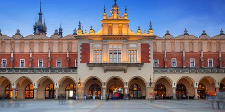 Rynek Gl´wny, torvet i den gamle by.