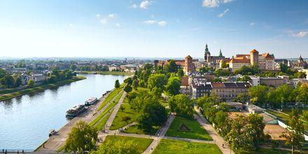 Krakow i Polen fra oven.
