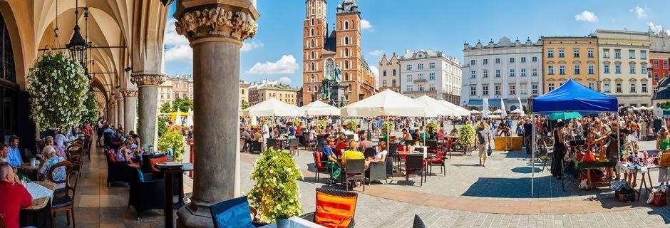 Det store torv, Rynek Glówny, i Krakow.
