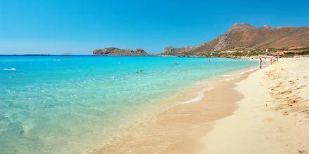 Sandstranden Falassarna er et populært udflugtsmål på Kreta.