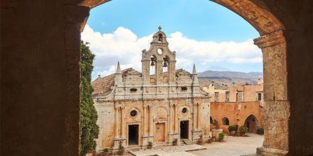 Arkadi-klostret som ligger lige uden for Rethymnon på Kreta.