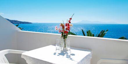 Balkonudsigt fra Hotel Krinos i Lefkos på Karpathos, Grækenland
