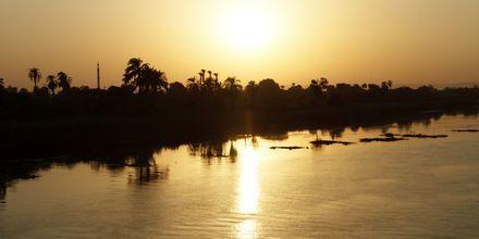 Solnedgang ved Nilen, Krydstogt på Nilen med MS Alyssa, Egypten