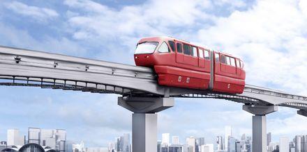 Monorail-tog i Kuala Lumpur - en god måde at komme rundt på.