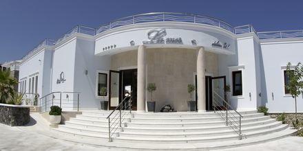 Entré på Hotel La Mer på Santorini, Grækenland.
