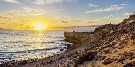 Solnedgang i La Pared, Fuerteventura.