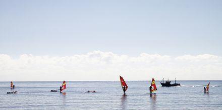 Windsurfing i Sotavento, Costa Calma, Fuerteventura.