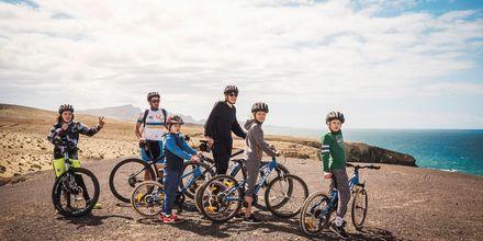 Aktive familier på La Pared, Fuerteventura.