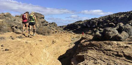 Terrænløb på Fuerteventura.
