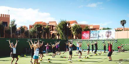 Holdtræning på La Pared, Fuerteventura.