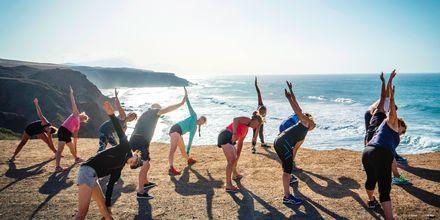 Yoga på La Pared, Fuerteventura.