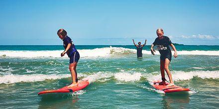 Surfskole på La Pared, Fuerteventura.