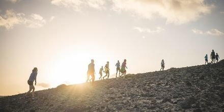 Løbetræning på La Pared, Fuerteventura.