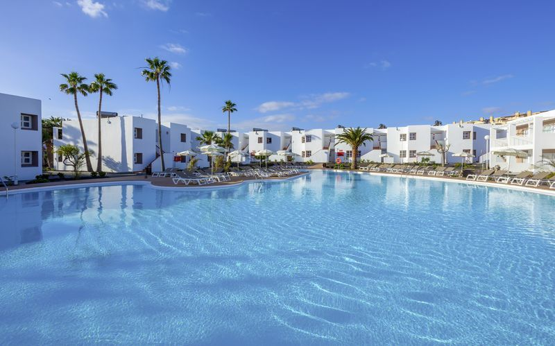 Poolområde på LABRANDA Bahia de Lobos på Fuerteventura, De Kanariske Øer.