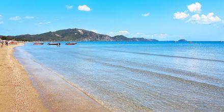 Stranden i Laganas på Zakynthos, Grækenland