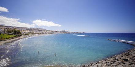 Stranden nærmest hotellet.