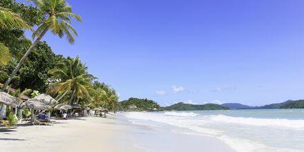 Pantai Cenang på Langkawis sydkyst er den mest populære strand.